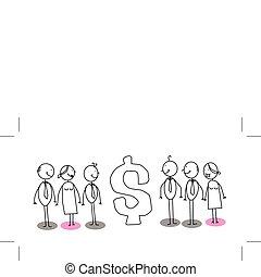 dollar sign businessman