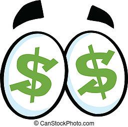 Dollar Sign Cartoon Eyes