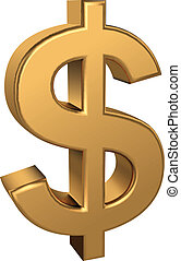 Dollar sign - CMYK vector illustration - created with...