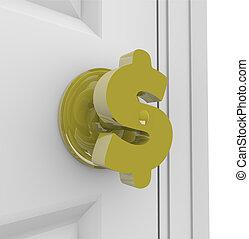 Dollar Sign - Doorknob
