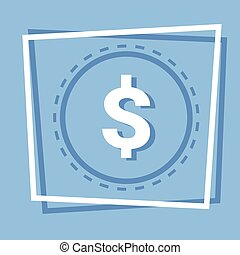 Dollar Sign Icon Web Button