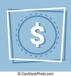 Dollar Sign Icon Web Button