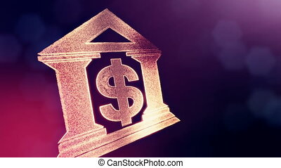 dollar sign in emblem of a bank. Finance background of...