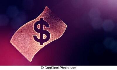 dollar sign in emblem of banknote. Finance background of...