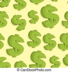 Dollar sign pattern seamless. Vector abstract background.