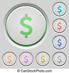 Dollar sign push buttons