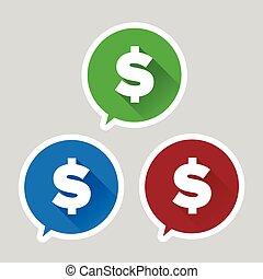 Dollar sign - vector flat design