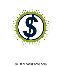 Dollar sign, vector icon.