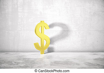 Dollar sign with question mark