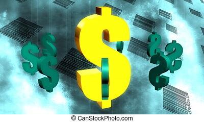 Dollar Signs and Bar Codes Abstract