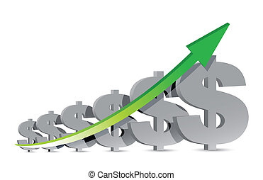 dollar signs business background