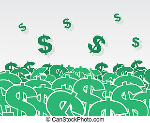 Dollar Signs Pile - Large pile of dollar signs