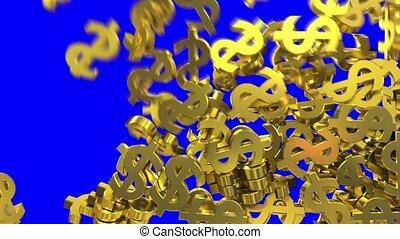Dollar signs symbols fill screen transition money bank...