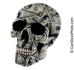 Dollar skull