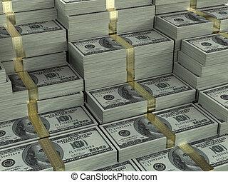 Dollar - Background full of money.