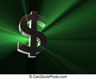 Dollar symbol in green lights