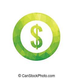 Dollar symbol - Vector illustration of dollar symbol in...