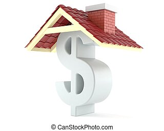 Dollar symbol with roof