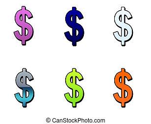 Dollar symbols