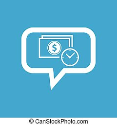 Dollar time message icon