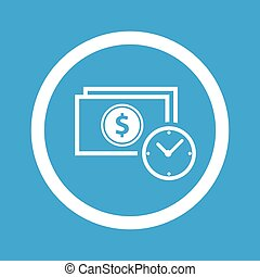 Dollar time sign icon