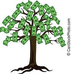 dollar, träd