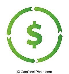 Dollar turnover icon