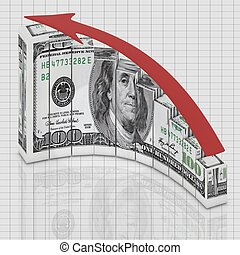 Dollar up concept