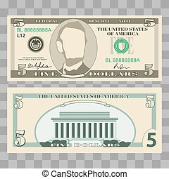Dollar, us money bills