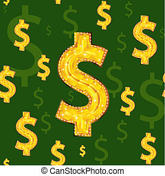 dollar - Seamless background with dollar signs.