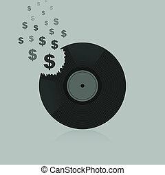 dollar, vinyl