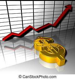 dollar, wachsen