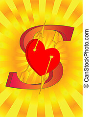 dollar with heart