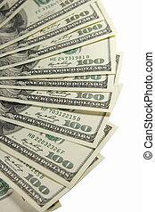 dollare, one-hundred, bundtet