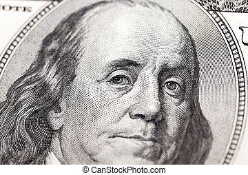 dollari, cento, ci, uno
