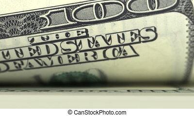 dollari, collegato, conteggio, animazione