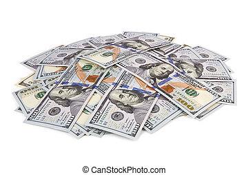 dollari, mucchio