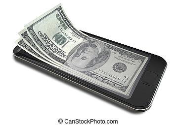dollari, smartphone, pagamenti