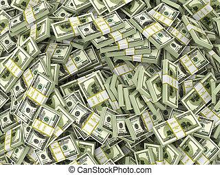 dollari., soldi., spento, fondo, pacchi