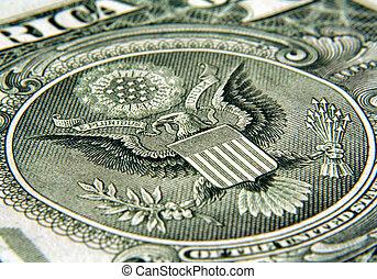 dollaro, -, aquila