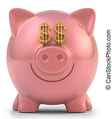 dollaro, banca piggy