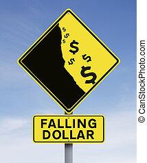 dollaro, cadere