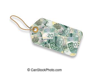 dollaro, canadese, etichetta