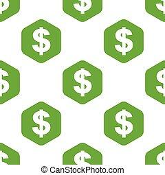 dollaro, emblema, modello