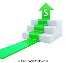 dollaro, freccia, upstairs