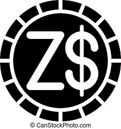 dollaro, ufficiale, 12, 2009, 1980, aprile, zimbabwean, valute, zimbabwe, moneta