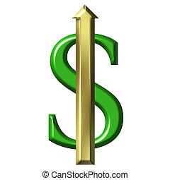 dollaro, valore, aumentare
