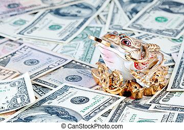 Dollars. 3 Legged Toad against money