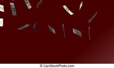 dollars, 3d, het vallen