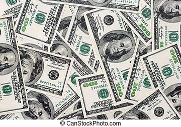 dollars américains, fond